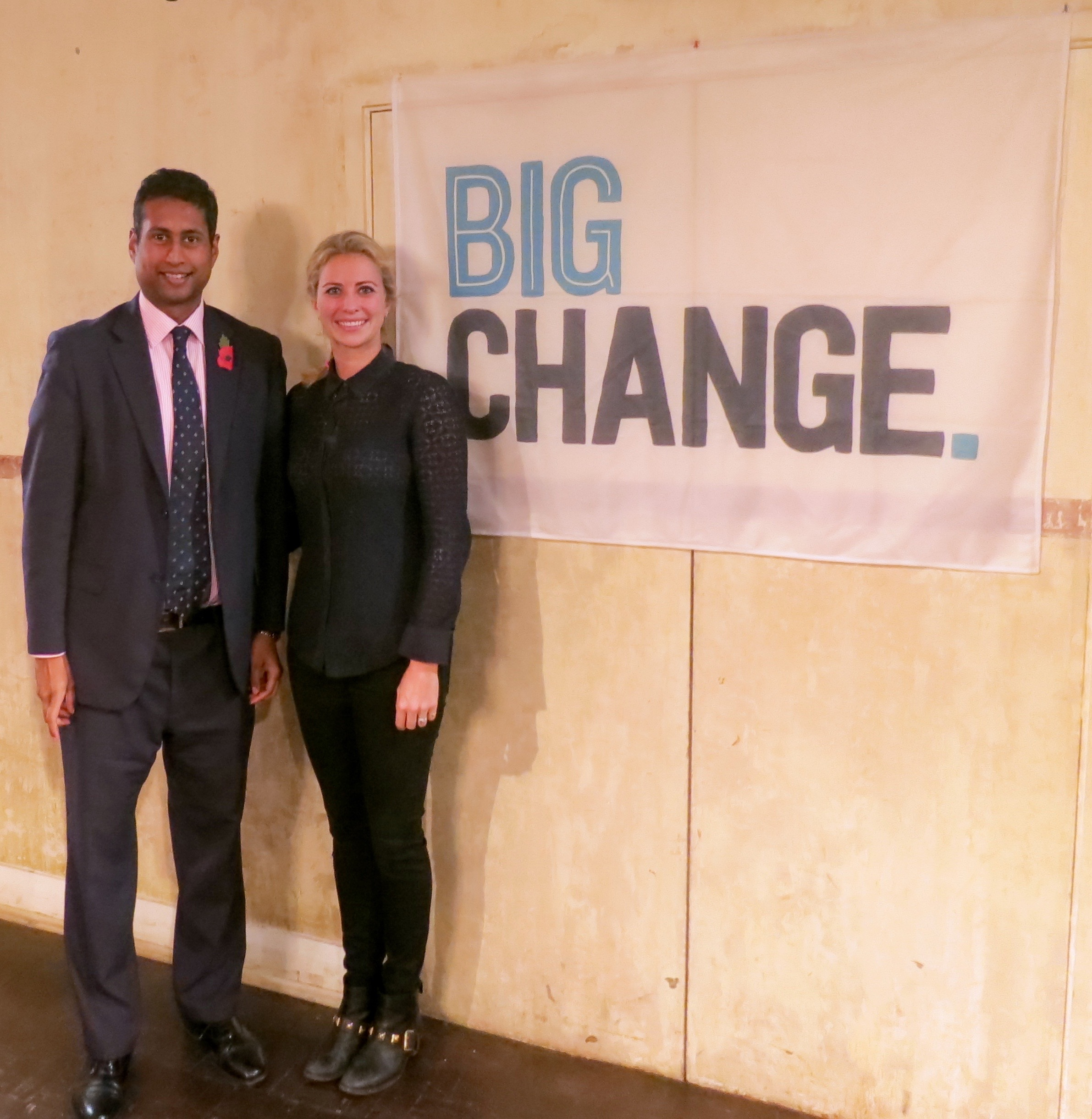 Dream Ball's founder, Annesley Abercorn with Holly Branson, Co-founder of Big Change